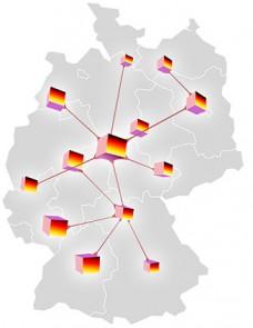 Fachanwältinnen / Fachanwälte der AuF in den OLG-Bezirken - karte